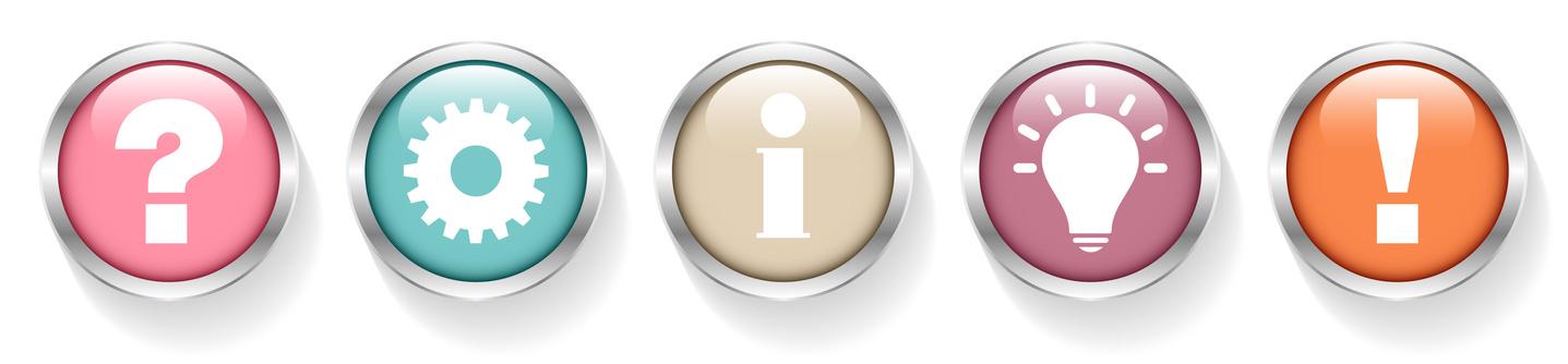 Question, Work, Information, Idea & Answer Retro Silver